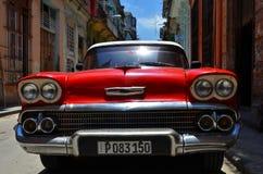 Beautiful cars of  Cuba, Havana streets Royalty Free Stock Images