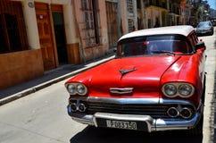 Beautiful cars of  Cuba, Havana Royalty Free Stock Image