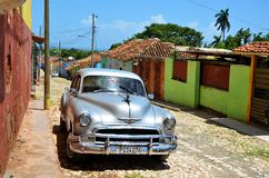 Beautiful cars of  Cuba, Trinidad Royalty Free Stock Photography
