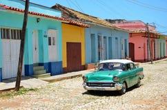 Beautiful cars of  Cuba, Trinidad Stock Photography
