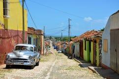 Beautiful cars of Cuba, Trinidad Stock Images