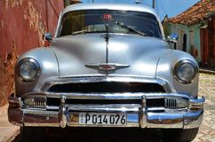 Beautiful cars of Cuba, Trinidad Royalty Free Stock Photo