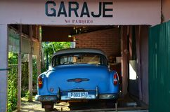 Beautiful cars of  Cuba, in Vinales Stock Image