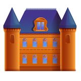 Beautiful cartoon castle. Vector illustration royalty free illustration