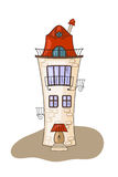 Beautiful cartoon medieval house Royalty Free Stock Photos