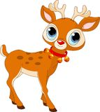 Beautiful cartoon reindeer Rudolf Royalty Free Stock Images