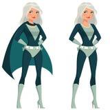 Beautiful cartoon superwoman Royalty Free Stock Image
