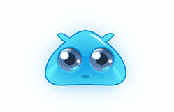 Beautiful cartoon water blob Royalty Free Stock Images