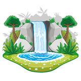 Beautiful cartoon waterwall. Royalty Free Stock Images