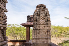 Beautiful carved ancient Jain temples constructed in 6th century AD in Osian, India. Stock Photography