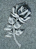 Beautiful Carved Stone Rose stock images