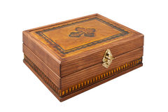 Beautiful carved wooden casket Stock Photography