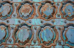 Beautiful Carved Wooden Door as Architectural Art Design Royalty Free Stock Image