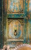 Beautiful Carved Wooden Door as an Architectural Art Design Element Stock Photos