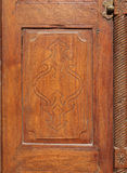 Beautiful carving on ancient door in Riffa fort Stock Photos