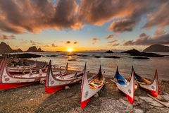 Free Beautiful Carving Boat At LanyuOrchid Island Royalty Free Stock Photo - 160344265