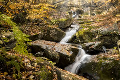 Beautiful Cascade In Autumn Royalty Free Stock Image