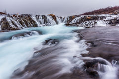 Beautiful cascade bruarfoss waterfall in Iceland Stock Photos