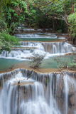 Beautiful cascade of Huay mae khamin waterfall Stock Photography