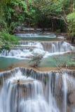 Beautiful cascade of Huay mae khamin waterfall Stock Photography