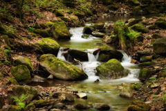Beautiful cascade in Sudety mountains Stock Image