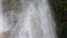 A beautiful cascade waterfall in the cuban jungles near Cumanayagua stock footage