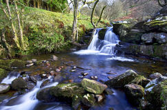 Beautiful cascades, Afon Caerfanell river, Blaen-y-Glyn Royalty Free Stock Photo