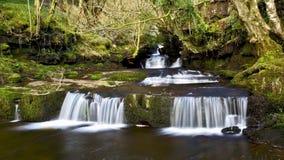 Beautiful cascades, Afon Caerfanell river, Blaen-y-Glyn Stock Photography