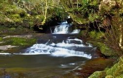 Beautiful cascades, Afon Caerfanell river, Blaen-y-Glyn Stock Photos