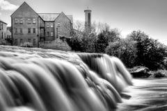 Beautiful cascades of Ennistymon. In Co. Clare, Ireland Stock Photo