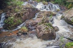 Beautiful cascading Datanla waterfall In the mountain town Dalat, Vietnam.  Royalty Free Stock Image