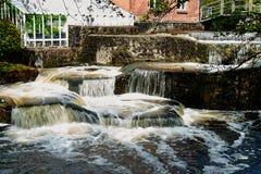 Beautiful cascading waterfall over rocks Stock Photography