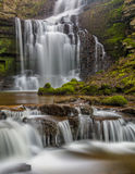 Beautiful Cascading Waterfall In The Yorkshire Dales, England. Royalty Free Stock Photos