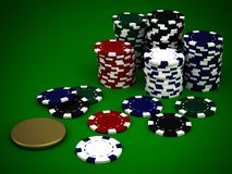 Beautiful casino chips Royalty Free Stock Images