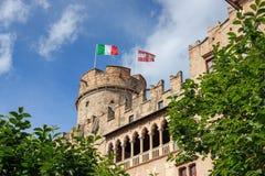 Beautiful Castello del Buonconsiglio en Trento, Italia fotos de archivo libres de regalías