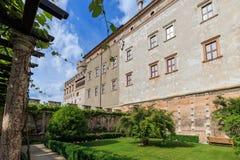 Beautiful Castello del Buonconsiglio en Trento, Italia fotografía de archivo libre de regalías