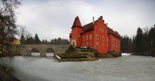 Water castle Cervena Lhota. Beautiful castle Cervena Lhota in the South Bohemia stock images
