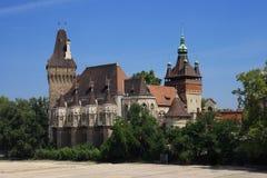 Beautiful Vajdahunyad castle. The Vajdahunyad castle, Budapest main city park Stock Photography