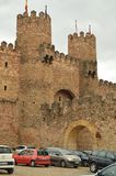 Beautiful Castle Converted In National Hostel In Siguenza Village. Architecture, Travel, Renaissance. royalty free stock images