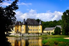 The beautiful Castle Dyck, Germany Royalty Free Stock Image