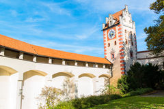 Beautiful Castle in Fussen  Bavaria, Alps , Germany, Europe Stock Photography
