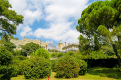 Beautiful castle in the Garden. Crimea, Russia Stock Photos