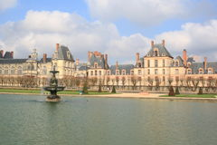 Beautiful castle and garden in Fontainebleau Royalty Free Stock Photos