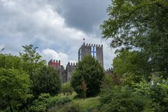 Beautiful castle in Guimaraes, Portugal. Beautiful castle in a Guimaraes Stock Photo