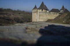 Beautiful castle on hillside, Khotyn fortress, Khotyn, Ukraine. Beautiful castle on hillside, Khotyn fortress, Khotyn Ukraine Royalty Free Stock Photos