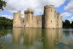 Beautiful castle and lake of Bodiam Royalty Free Stock Image