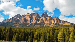 Beautiful Castle Mountain In Canada Stock Image