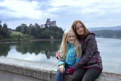 Beautiful castle niedzica royalty free stock photo