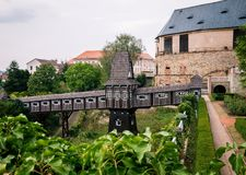 Beautiful castle nove mesto nad metuji royalty free stock photos