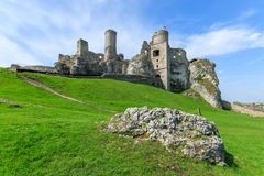 Beautiful castle in Ogrodzieniec near Krakow in spring, Poland Royalty Free Stock Photography
